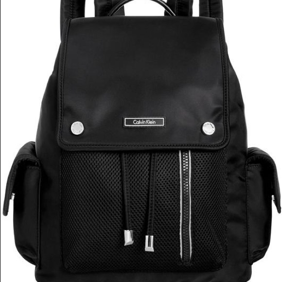 Calvin Klein Handbags - Calvin Klein Black Nylon Backpack